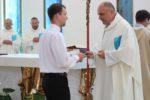 První salesiánské sliby Dominika Hoňka